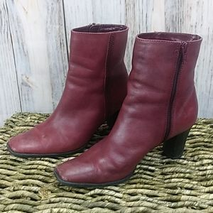 A.N.A. Leather Heeled Zipper Boots